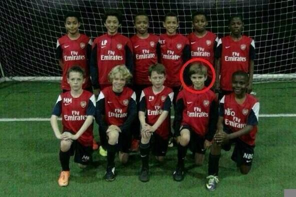David Beckham's son Romeo with the ARSENAL youth team ...